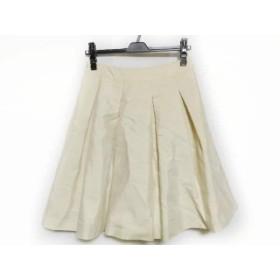 【中古】 エムプルミエブラック M-premierBLACK スカート サイズ36 S レディース アイボリー プリーツ