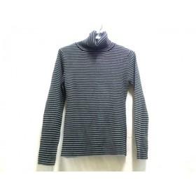 【中古】 ノーブランド 長袖セーター サイズL メンズ グレー 黒