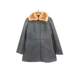 【中古】 ホコモモラ JOCOMOMOLA コート サイズ40 XL レディース ダークグリーン 冬物