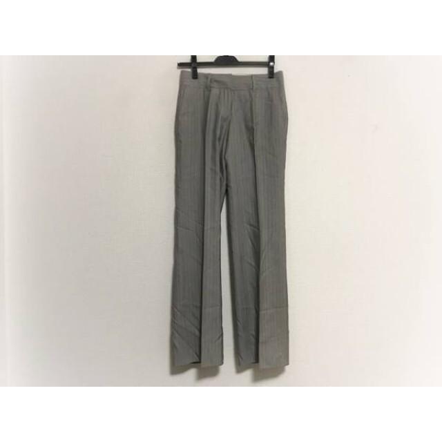【中古】 トゥモローランド TOMORROWLAND パンツ サイズ36 S レディース グレー 白 ストライプ