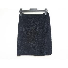 【中古】 ダイアグラム Diagram GRACE CONTINENTAL ミニスカート サイズ36 S レディース 美品 黒 ベロア