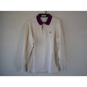 【中古】 マンシングウェア Munsingwear 長袖ポロシャツ サイズL レディース 白 パープル