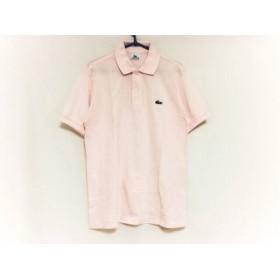 【中古】 ラコステ Lacoste 半袖ポロシャツ サイズ3 L メンズ ピンク