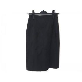 【中古】 ニジュウサンク 23区 スカート レディース 美品 黒 花柄