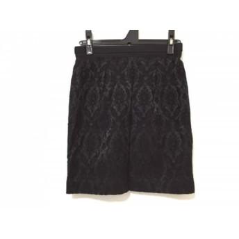 【中古】 アプワイザーリッシェ Apuweiser-riche ミニスカート サイズ2 M レディース 黒 ジャガード