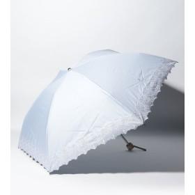 【20%OFF】 ムーンバット LANVIN COLLECTON 晴雨兼用日傘 ラメ刺繍 レディース ペールスカイ メーカー指定サイズ 【MOONBAT】 【セール開催中】