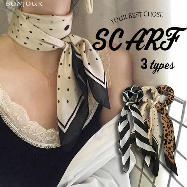 <即納>ストール スカーフ レオパード柄 豹柄ヒョウ柄 薄手 6way ボウタイ 韓国ファッション
