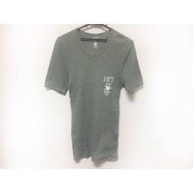 【中古】 トーガ・オッズ&エンズ 半袖Tシャツ サイズ1 S レディース 美品 カーキ ダークネイビー