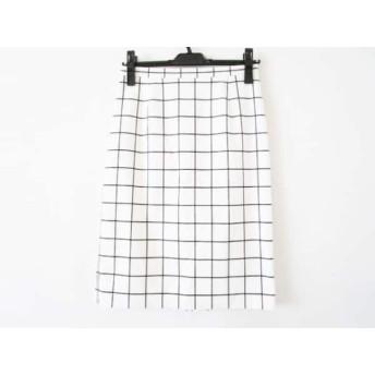 【中古】 ピンキー&ダイアン Pinky & Dianne スカート サイズ38 M レディース 白 黒 チェック柄