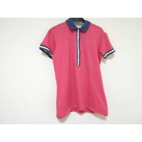 【中古】 バランタイン Ballantyne 半袖ポロシャツ レディース ピンク ネイビー アイボリー