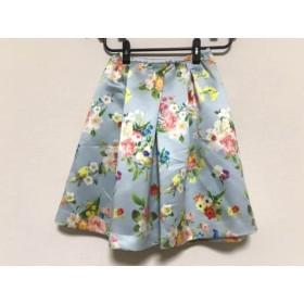 【中古】 チェスティ スカート サイズ0 XS レディース 美品 ライトブルー グリーン レッド マルチ 花柄