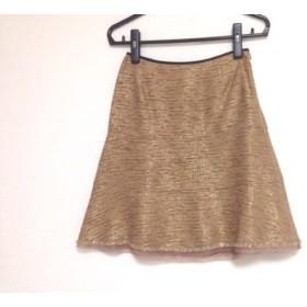 【中古】 エストネーション ESTNATION スカート サイズ36 S レディース ブラウン ゴールド ラメ/BIS