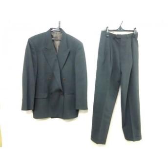 【中古】 スタジオ フェレ STUDIO FERRE ダブルスーツ サイズ確認できず メンズ グレー 肩パッド