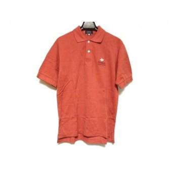 【中古】 パーリーゲイツ PEARLY GATES 半袖ポロシャツ サイズS メンズ レッド 白 ネイビー 刺繍