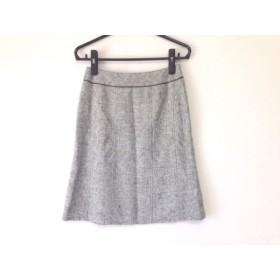 【中古】 ジユウク 自由区/jiyuku スカート サイズ38 M レディース 美品 アイボリー 黒