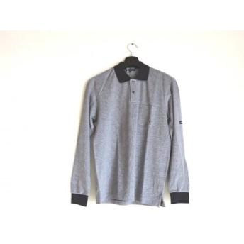【中古】 パーリーゲイツ PEARLY GATES 長袖ポロシャツ サイズ2 M メンズ 美品 グレー ネイビー GOLF