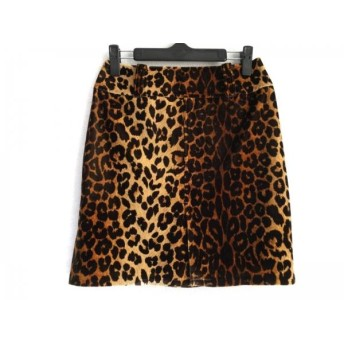 【中古】 ピンキー&ダイアン スカート サイズ38 M レディース ブラウン 黒 ライトブラウン 豹柄