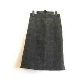 【中古】 カマンタ KAMANTA スカート サイズ42 L レディース 黒 グレー アイボリー