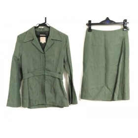 【中古】 シビラ Sybilla スカートスーツ サイズ40 XL レディース グリーン