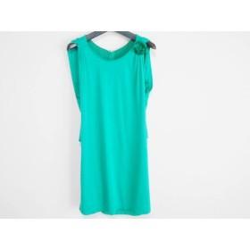【中古】 ランバンオンブルー LANVIN en Bleu ドレス サイズ38 M レディース グリーン フラワー