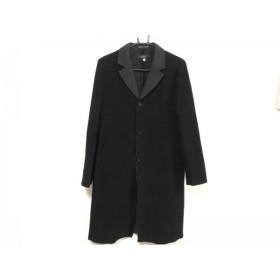 【中古】 イネド INED コート サイズ2 M レディース 黒 ダークグレー 冬物