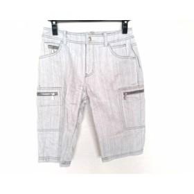 【中古】 ミエコウエサコ M・U・ SPORTS ハーフパンツ サイズ42 L レディース グレー 刺繍