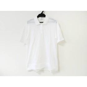 【中古】 ジルサンダー JILSANDER 半袖ポロシャツ サイズS レディース 美品 白