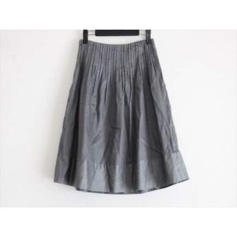 【中古】 トゥモローランド TOMORROWLAND スカート サイズ36 S レディース 美品 ダークグレー ストライプ