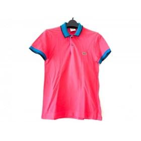 【中古】 ラコステ Lacoste 半袖ポロシャツ サイズ2 M レディース ピンク ブルー 黒 LIVE