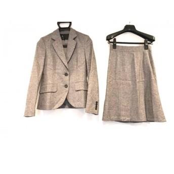 【中古】 アンタイトル UNTITLED スカートスーツ サイズ1 S レディース ダークブラウン マルチ