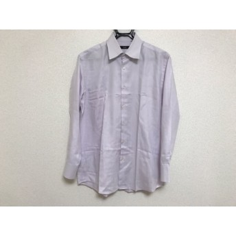 【中古】 ヒューゴボス HUGOBOSS 長袖シャツ サイズ17.5(US) メンズ 美品 ライトパープル コットン