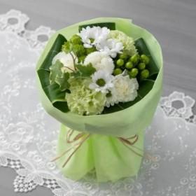 【故人を偲ぶ、お悔みの花】花束「優美花(そのまま飾れるお悔み花束)白」