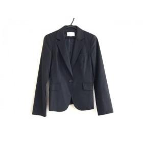 【中古】 エムプルミエ M-PREMIER ジャケット サイズ36 S レディース 美品 黒