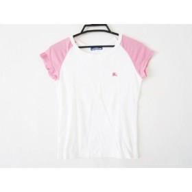 【中古】 バーバリーブルーレーベル Burberry Blue Label 半袖Tシャツ サイズ38 M レディース 白 ピンク