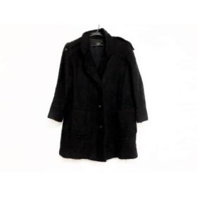 【中古】 レリアン Leilian コート サイズ9 M レディース 黒 冬物/モヘア