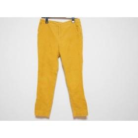 【中古】 チェスティ Chesty パンツ サイズ0 XS レディース 美品 イエロー コーデュロイ