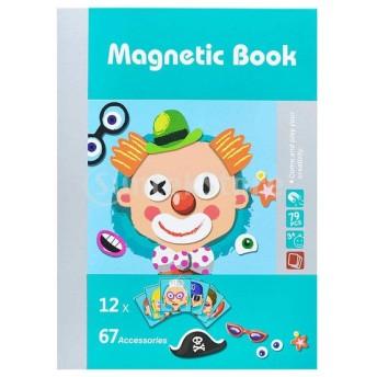 Perfk 高品質 磁気本 磁気ジグソーパズル 幼児 赤ちゃん 玩具 ギフト 知育 教育玩具 全3色 - 79枚‐人