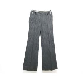 【中古】 セオリー theory パンツ サイズ2 S レディース 黒 白 ストライプ