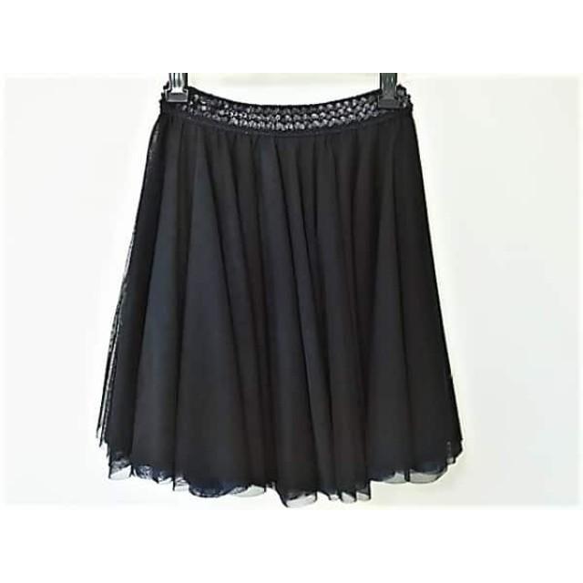 【中古】 ミュラーオブヨシオクボ スカート レディース 美品 黒 ネイビー スパンコール