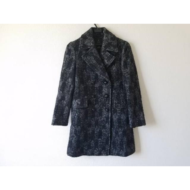 【中古】 イネド INED Pコート サイズ7 S レディース 黒 PONTETORTO/DEPUIS 1992/冬物