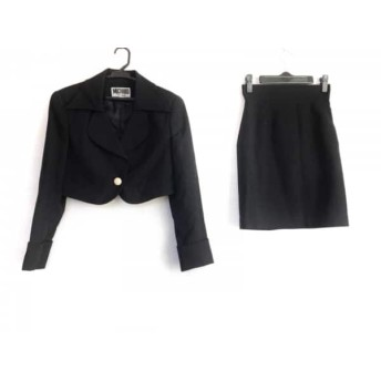 【中古】 ミチコロンドン MICHIKO LONDON スカートスーツ サイズ7 S レディース 黒