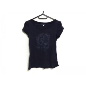 【中古】 バーバリーブルーレーベル 半袖Tシャツ サイズ38 M レディース ダークネイビー