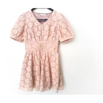 【中古】 メリージェニー merry jenny ワンピース サイズM レディース ピンク
