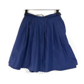 【中古】 アプワイザーリッシェ Apuweiser-riche スカート サイズ2 M レディース 白 ネイビー ストライプ
