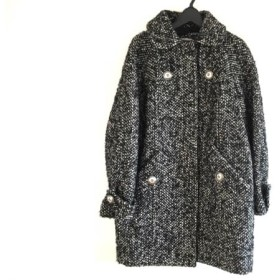 【中古】 バーバリーブルーレーベル Burberry Blue Label コート レディース 黒 グレー アイボリー 冬物