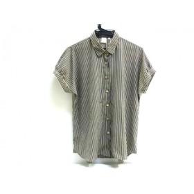 【中古】 ノーブランド 半袖シャツ サイズ38 M レディース ベージュ ブラック