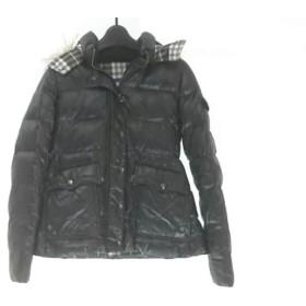 【中古】 バーバリーブルーレーベル ダウンジャケット サイズ38 M レディース 黒 冬物
