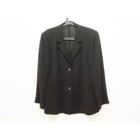 【中古】 ラピーヌルージュ lapine rouge ジャケット サイズ17 XL レディース 黒