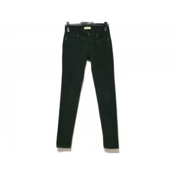 【中古】 ヤヌーク YANUK パンツ サイズ24 レディース グリーン コーデュロイ素材