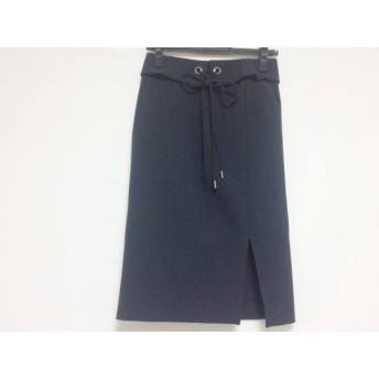 【中古】 エストネーション ESTNATION スカート サイズ36 S レディース ダークネイビー